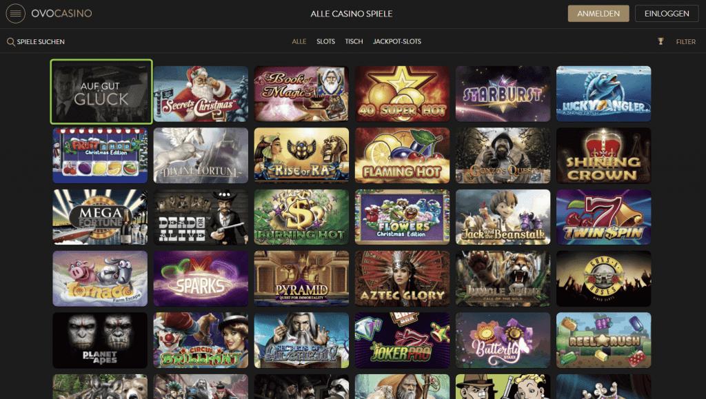 Ovo Casino Spiele Top Titel Marktfuhrender Anbieter